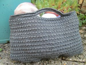 Sac Gris Crochet (4)