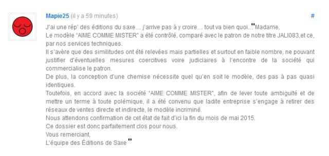 editions de saxe - chemise Mister