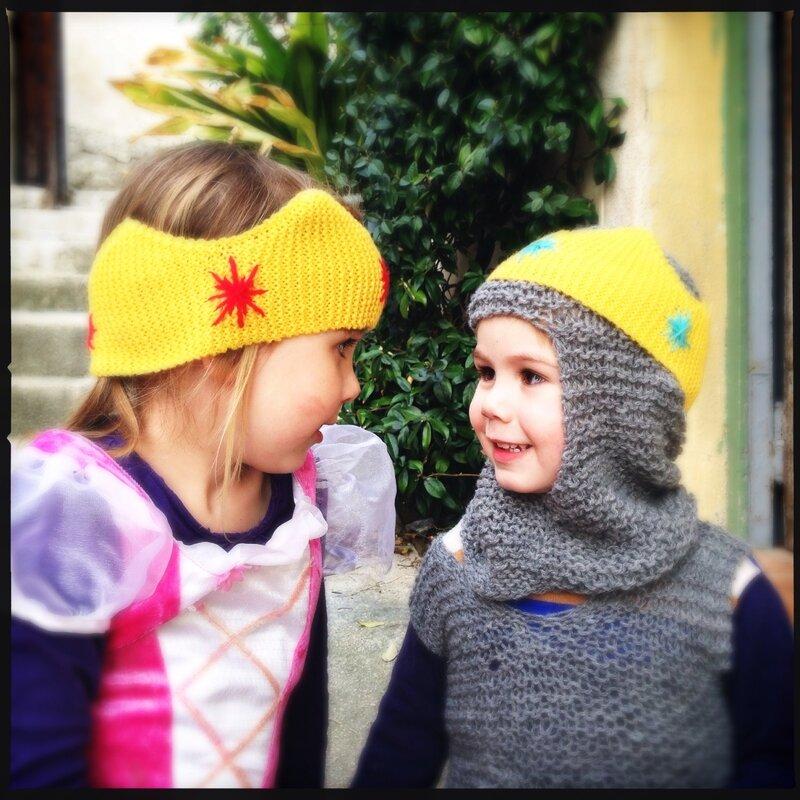 Couronne tricotée en Mérinos de la Filature du Valgaudemar