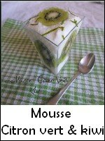 mousse citron vert kiwi weight watchers