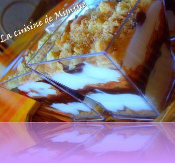 verrine chocopoires au fromage blanc
