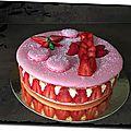 Macaron géant fraises