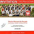 Thulin-maison du peuple vendredi 12 décembre 2014. chants et danses par l'ensemble de sierakowice - pologne.