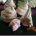 Meringue surprise fraise tagada