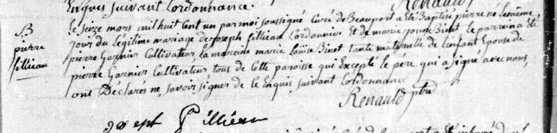 1801-B PIERRE FILIAU (JOSEPH ET JEANNE BINET)