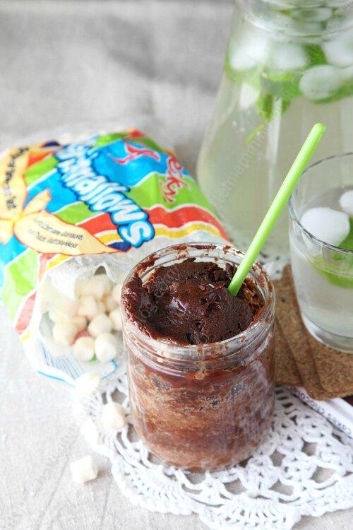 mug cake chocolat cacahuete marsmallow 0003 LE MIAM MIAM BLOG