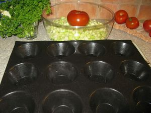 flan courgette tomate 1