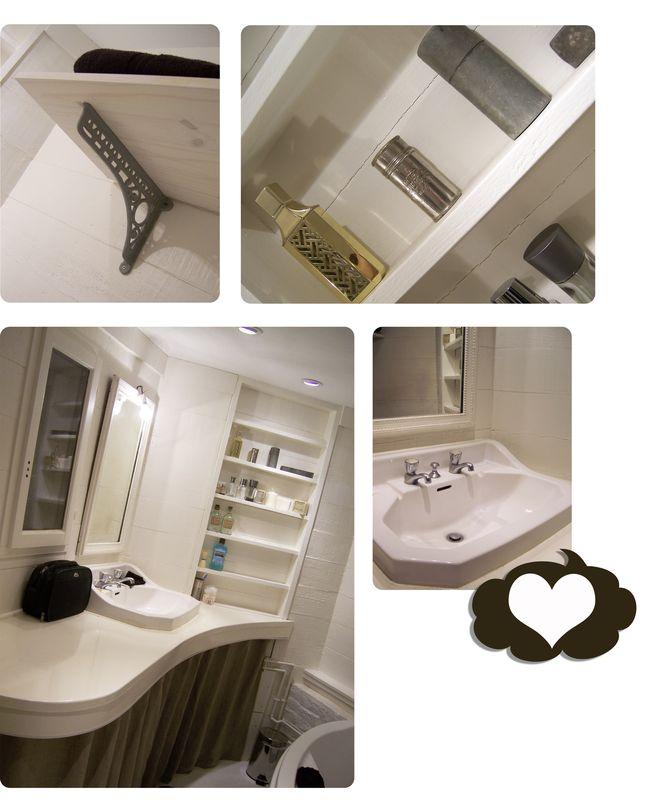 La salle de bain de la chambre merlot du gite quot les vignes de for Couleur salle de bain zen