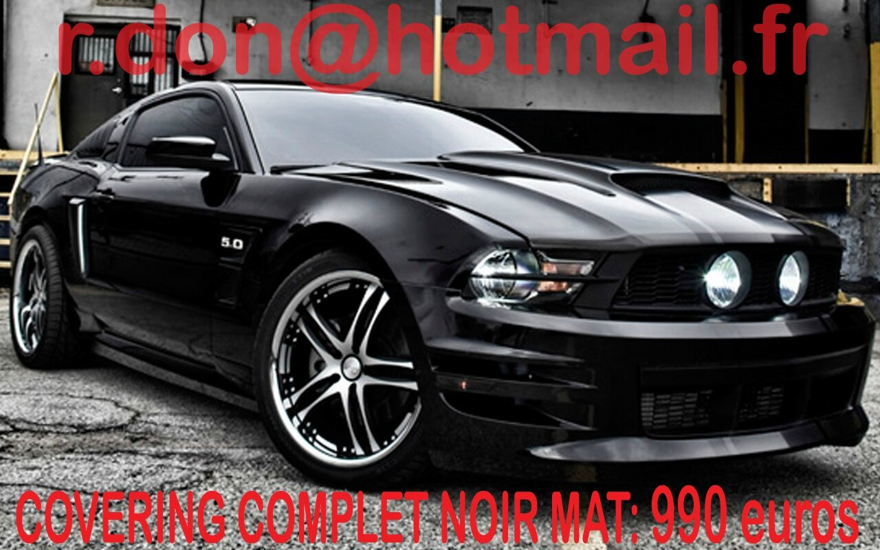 ford mustang covering noir mat ford mustang. Black Bedroom Furniture Sets. Home Design Ideas
