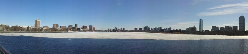 Panorama de Boston et de la Charles River