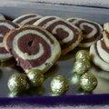 Sablés escargots vanille chocolat