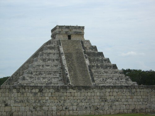 Chichen Itza - View of El Castillo from Main Ball Court