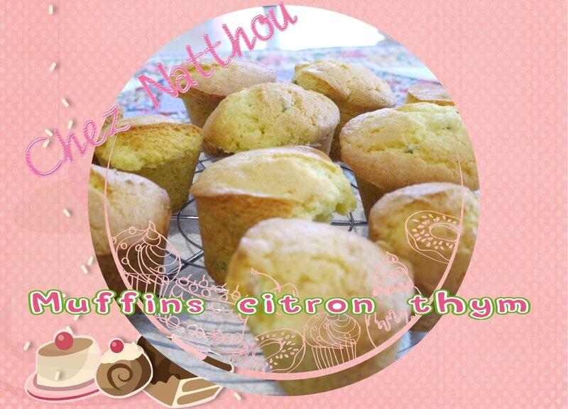 muffins citron thym