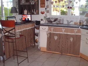 Rideaux esprit d 39 antan by mlle st phie for Rideau sous evier cuisine
