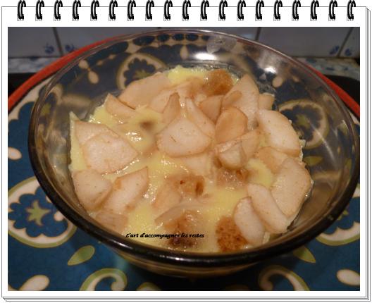 Flan de poire au pain d'épices1