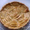 Tarte aux pommes et aux amandes