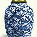 A large blue and white 'Hundred' deer vase, Ming Dynasty, Wanli Period