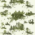 London toile green