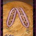 bracelt ANDE violet/mauve 2 rangs
