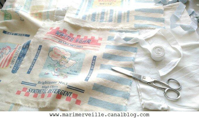 Découpage du tissu - Marimerveille