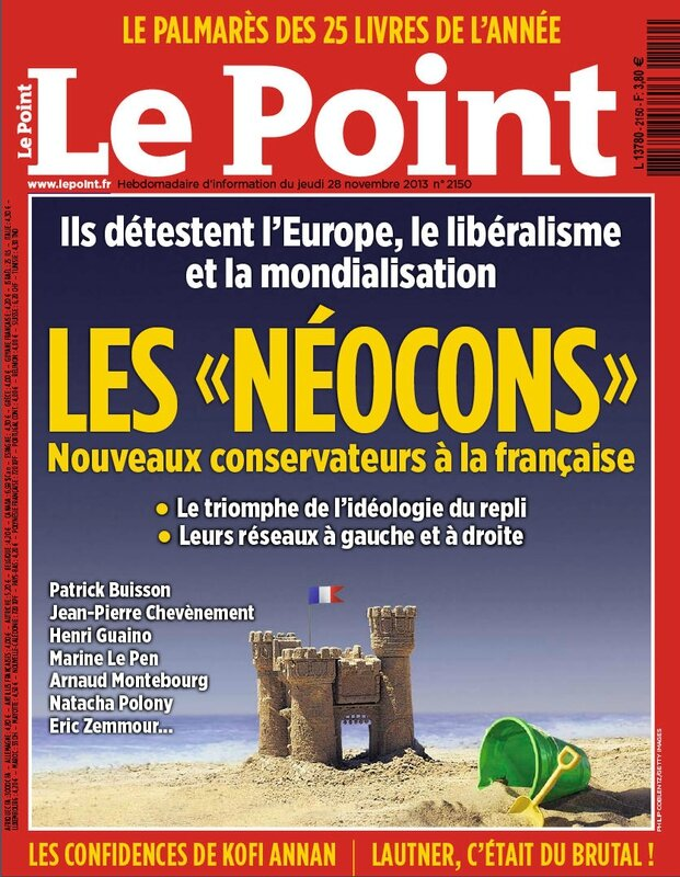 Couverture Le Point néocons 28 nov 2013
