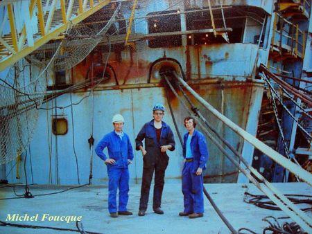 Aout 1981 à l'arrière du Sténa-Danica