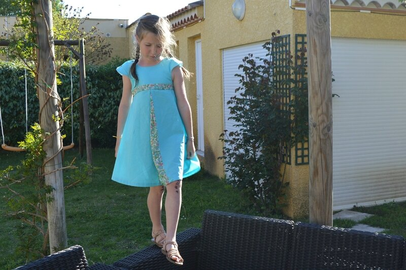 Robe Mademoiselle Betsy Turquoise (4)