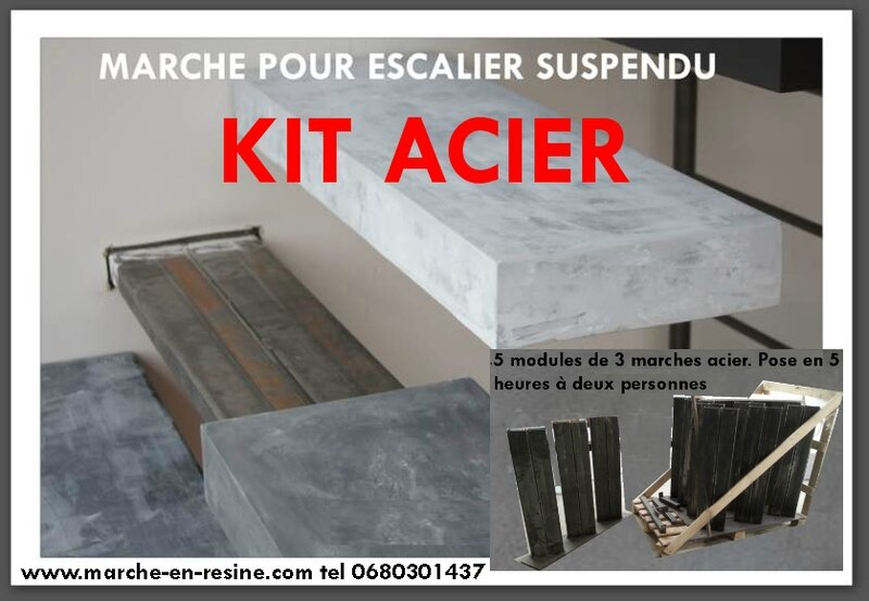 Escalier suspendu escalier flottant quart tournant - Escalier suspendu kit ...