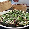 Salade d'aubergine vapeur façon vietnamienne - parfait pour les beaux jours !