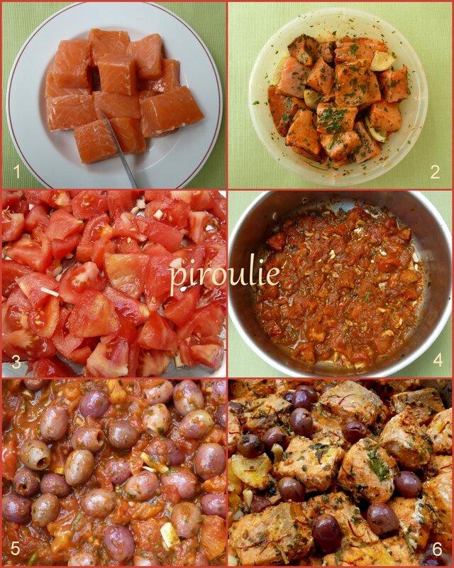 tajine de saumon aux olives et au citron