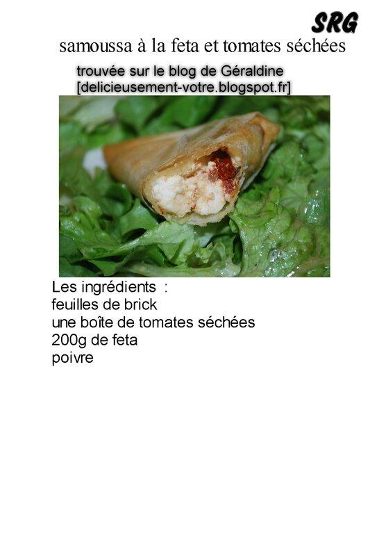 samoussa à la feta et tomate séchée (page 1)