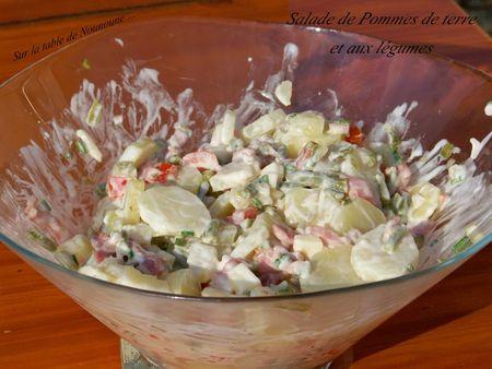 Salade de Pommes de terre et aux légumes 2