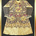 A silk embroidery robe with dragon design