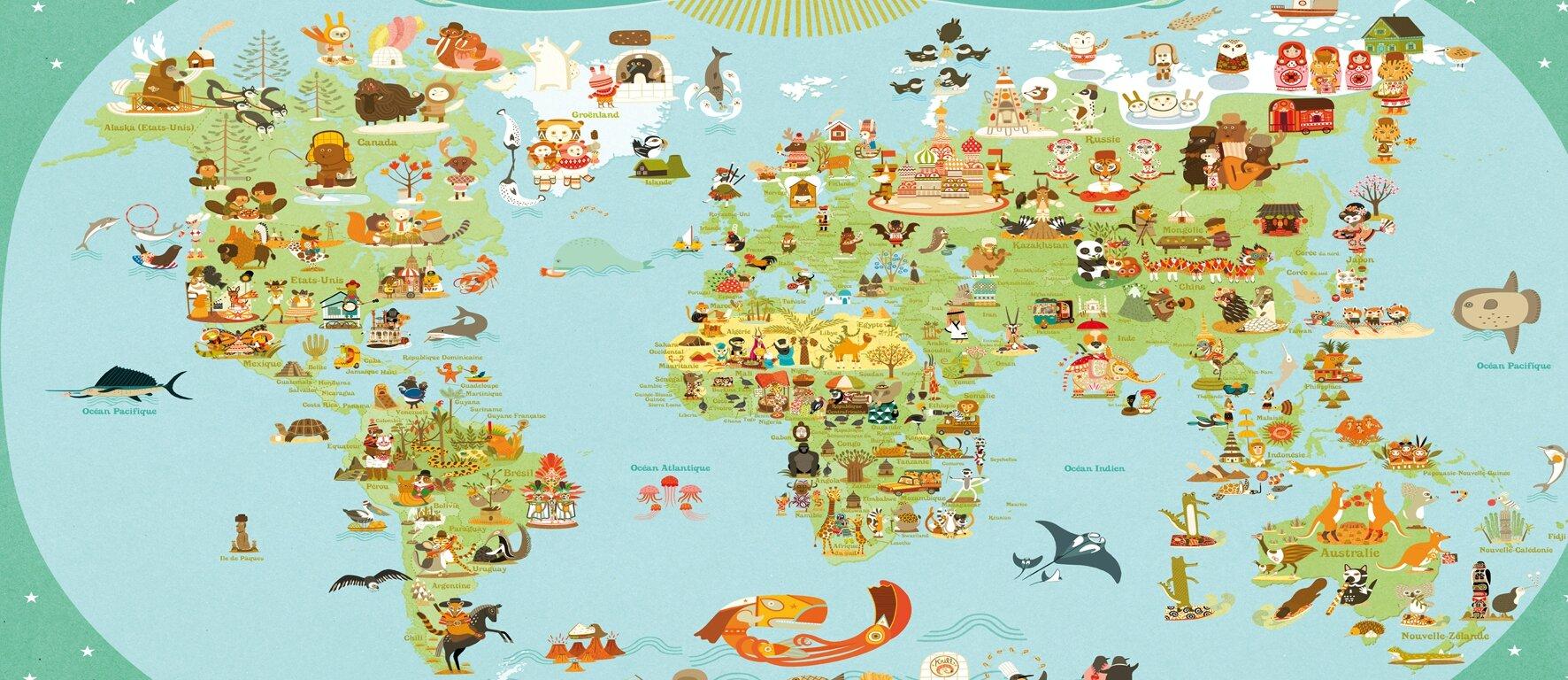 J 24 d part imm diat pour le tour du monde a tourbillonne aujourd 39 hui for Planisphere enfant