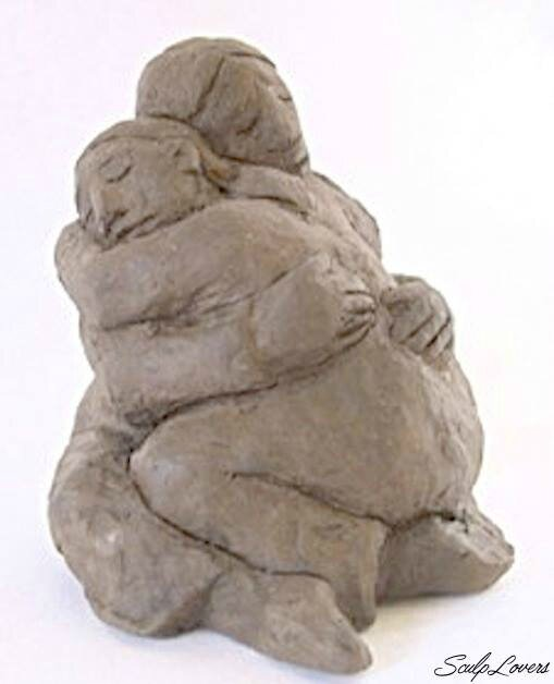 _Full Hug__Clay work by Barbara Hughes