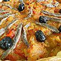 Pissaladière oignons/tomates - tour rapide n°154