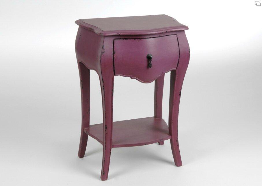Table de chevet romantique meuble amadeus for Table de chevet amadeus