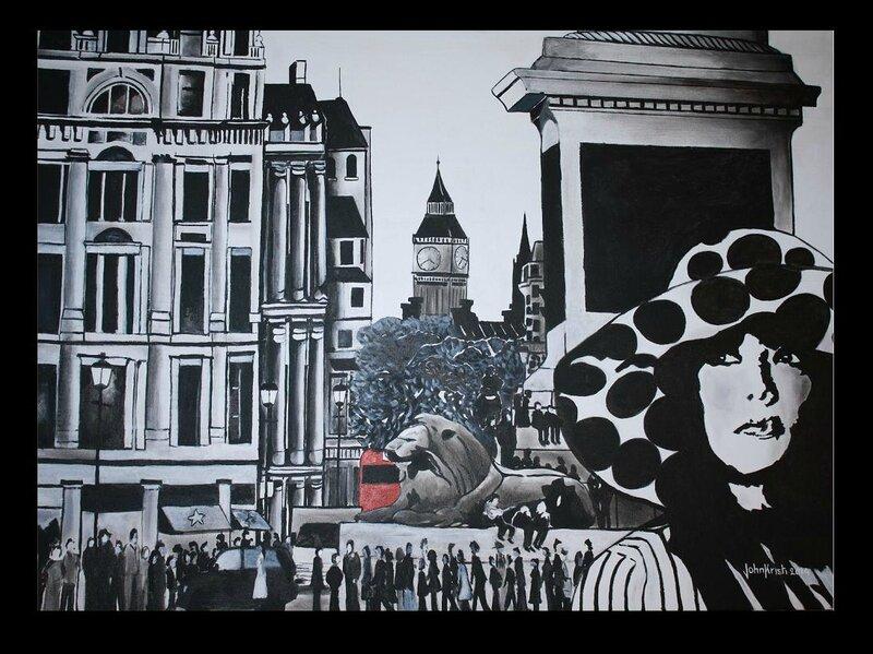 Mel in Trafalgar square