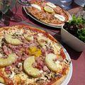 Pizzas en terrasse à La Florentine, Amboise, avant Chaumont.