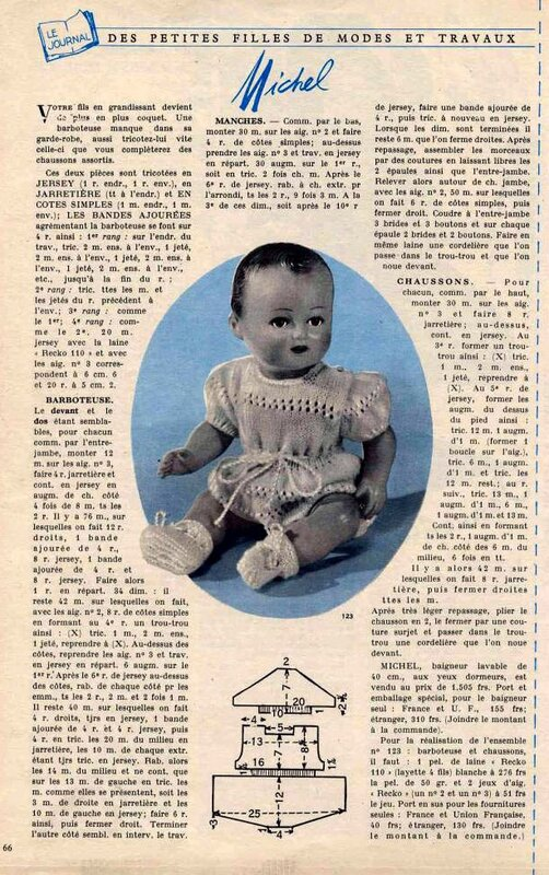 1955 03 Barboteuse&Chaussons-Michel-tricot