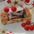 Quiche aux roquefort et tomates séchées