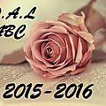 Pal - le défi/challenge abc (2015-2016)