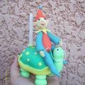 tortue porte-bougie pour l'anniversaire de ma maman