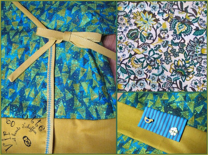 détails ensemble kimono