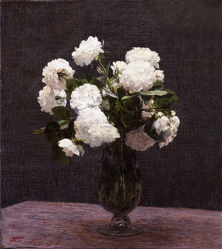1875 - Roses blanches