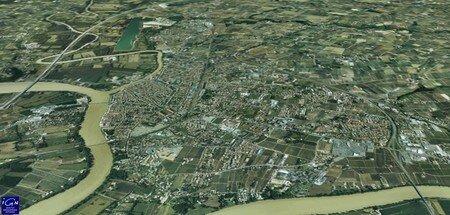 Libourne en 3D sur Géoportail IGN