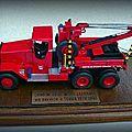 WARD LA FRANCE série 5 modifié en version Pompiers de TOURS (37)