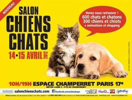 Le salon chiens chats mystere naturel for Porte de champerret salon chiens chats