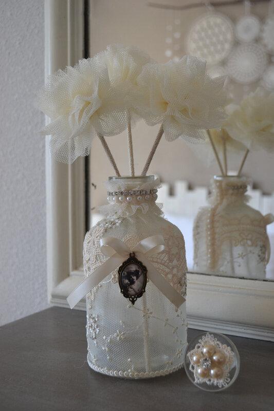 bouteille fleurs