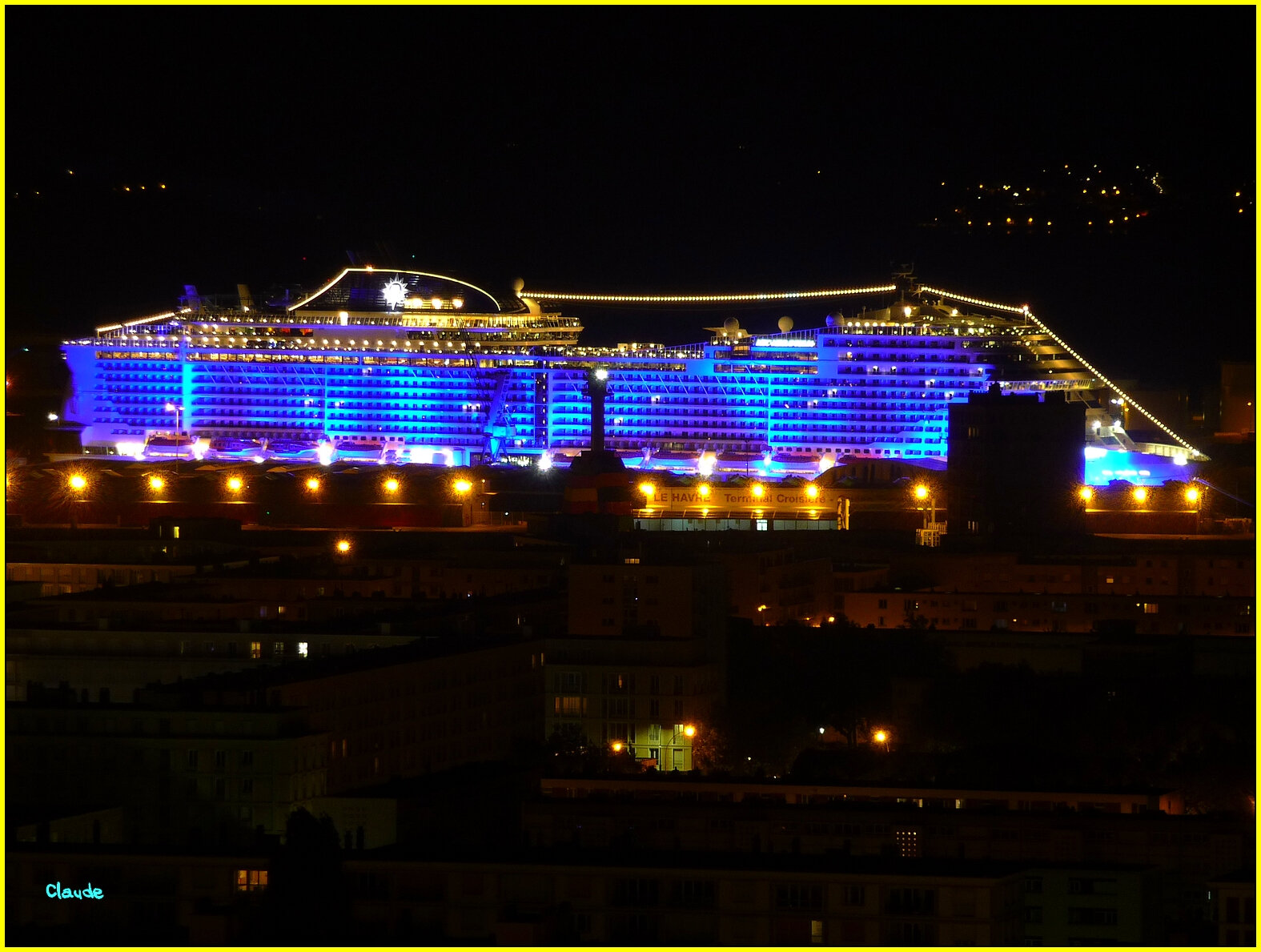""""" MSC MERAVIGLIA """" BY NIGHT ............"